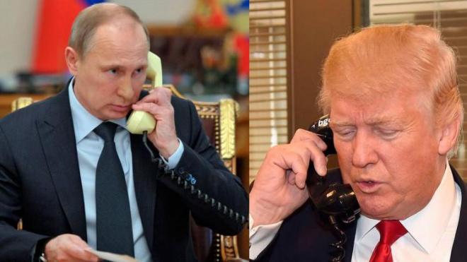 Путин и Трамп больше часа вели переговоры по телефону