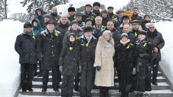 На Пискаревском кладбище почтили память жертв блокады