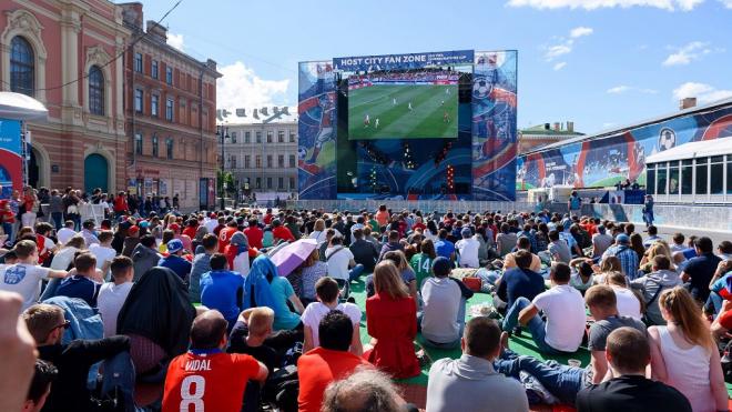 Петербург стал вторым по числу футбольных фанатов на Чемпионате мира - 2018