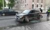В результате ДТП на проспекте Обуховской обороны у кроссовера оторвало колесо