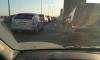 Из-за аварии и дорожных работ КАД встал в пробку в сторону Кронштадта: машины едут 7 км/ч