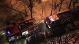 На Купчинской улице ночью спасатели тушили пожар в мусор...
