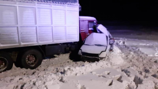 В Челябинской области 5 человек погибли в лобовом ДТП с КАМАЗом