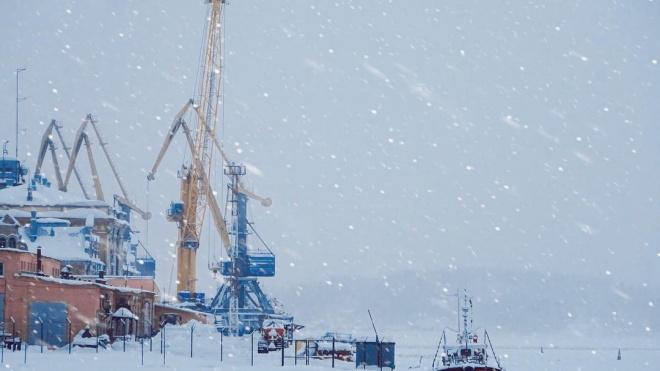 Рабочая неделя в Выборге началась с метели и снегопада