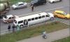 Очевидцы: Свадебный лимузин попал в ДТП, невеста в панике