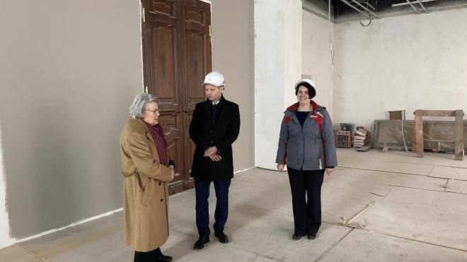 Реконструкцию библиотеки имени Маяковского завершат в марте