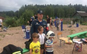 В Выборгском районе провели профилактические мероприятия по пожарной безопасности