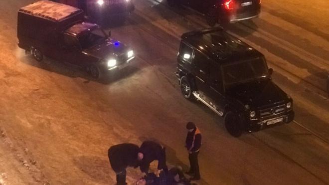 На Среднем проспекте В.О авария переросла в драку на дороге