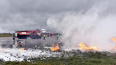 В Пулково спасатели отрабатывают действия при экстренной ...
