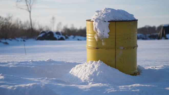 В феврале с замерзших водоемов Петербурга убрали 189 кубометров мусора