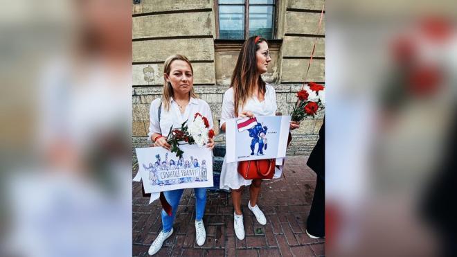 Петербуржцы снова вышли на акцию у посольства Белоруссии