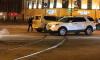 В центре Петербурга из-за столкновения двух белых внедорожников образовалась пробка