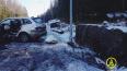 SsangYong врезался в столб на границе с Финляндией