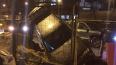 BMW провалился в яму на Дальневосточном проспекте