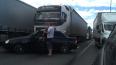 На Московском шоссе легковушка попала под фуру