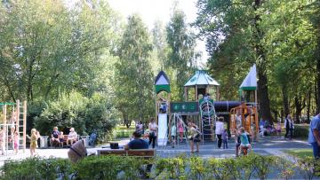 Завершено благоустройство Софийского бульвара в Пушкине