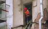 На улице Полозова в пожаре пострадал мужчина