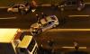 На Лени Голикова столкнулись бетономешалка и полицейский автомобиль
