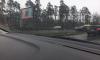 На Приморском шоссе легковушка снесла столб
