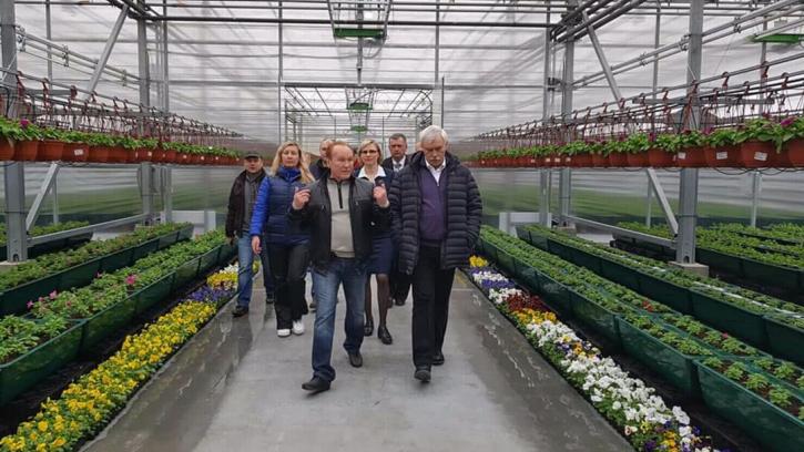 Губернатор открыл новый тепличный комплекс площадью 2,5 тыс. кв. метров