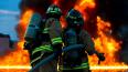 При пожаре в Песочном погибло двое человек