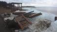 Пляж в Лисьем Носу серьезно пострадал из-за шторма