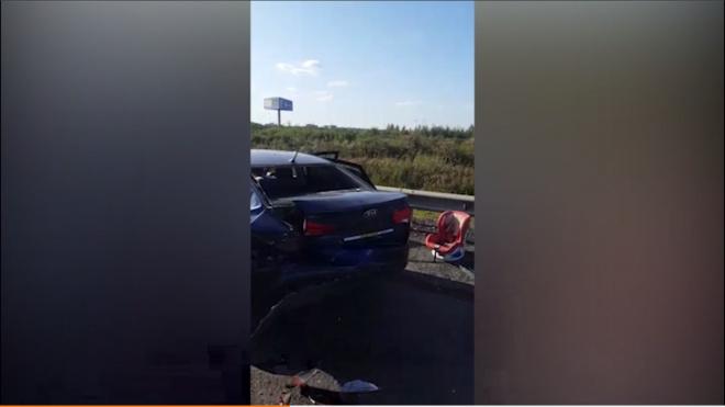 """Три ребенка пострадали в массовом ДТП на трассе """"Кола"""""""