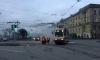 На площади Ленина загорелся набитый пассажирами трамвай