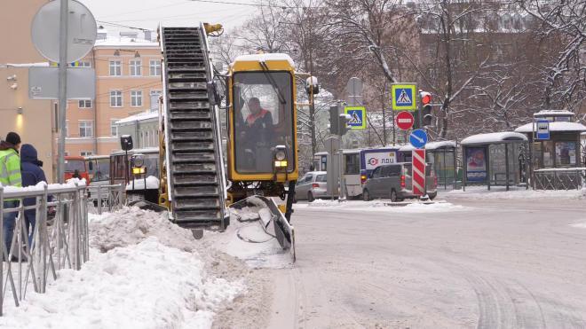 Более 6 сантиметров снега выпало в Петербурге в ночь на 16 февраля