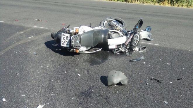 Водитель мотоцикла погиб в жестком ДТП на Выборгском шоссе