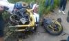 Мотоцикл разорвало на части в ДТП на Выборгском шоссе