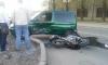 На улице Салова байкер-лихач угодил под машину