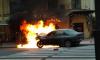 На Гороховой улице иномарка врезалась в ограждение и загорелась