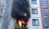На улице Копинского сгорел балкон пятиэтажки