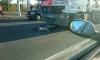 Грузовик сбил велосипедистку на Петергофском шоссе и тащил ее за собой 20 метров
