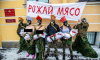 В Петербурге феминистки вышли на праздничную акцию с голой грудью и сырым мясом
