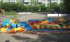В Романовке ветер снес батут с детьми, есть пострадавшие