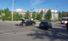 Два автомобиля столкнулись на перекрестке Ленсовета и Гагарина