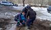 Выборгские спасатели доставали ребенка из грязевой жижи