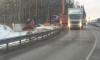 """Многотонный грузовик смял будку со сторожем на трассе """"Скандинавия"""""""