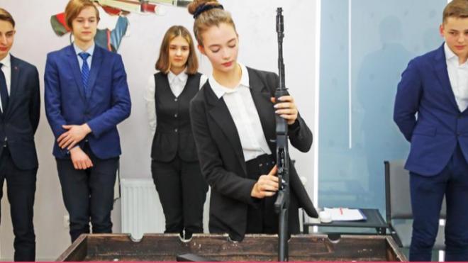 В петербургской гимназии открыли стрелковый кабинет для пневматического тира
