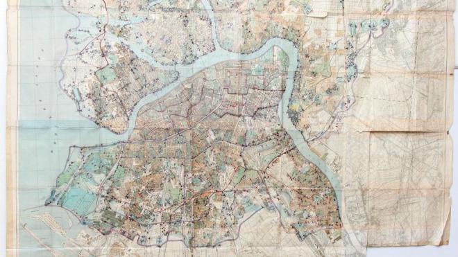 В Петербурге представили уникальную карту рубежей обороны Ленинграда