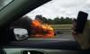 Фото: на внешнем кольце КАД горит мотоцикл