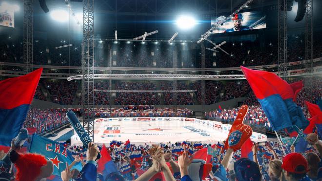 """СКА показал визуализацию стадиона """"Санкт-Петербург"""" во время хоккейных матчей"""