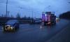 На Пулковском шоссе произошло странное лобовое столкновение