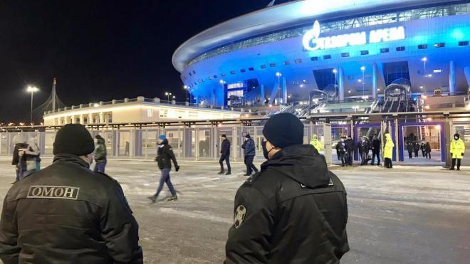 """На матче """"Зенит"""" –""""Динамо"""" в ложах """"Газпром Арены"""" нашли 10 нарушителей"""