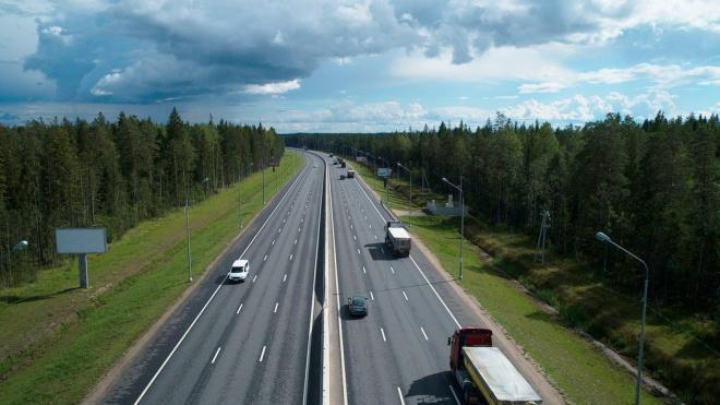 Работы на КАД на развязке с Мурманским шоссе отменили из-за плохой погоды