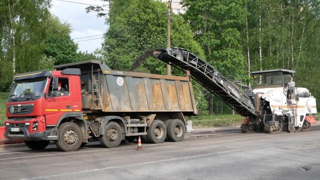 В Выборге начался ремонт Приморского шоссе