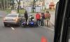 На Ленинском проспекте автомобиль сбил мотоциклиста