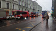 В центре Петербурга загорелся жилой дом. На месте ...